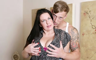 Horny British housewife having it away will not hear of boy toy