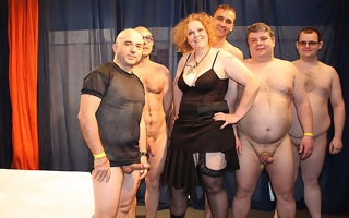 Kinky German housewife there a crazy gangbang