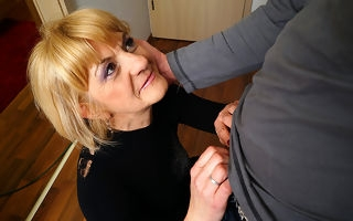 Horny mature lady doing say no to toyboy