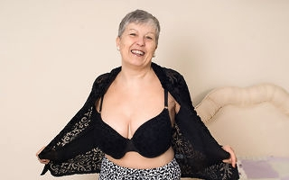 Sizzling big breasted British mature lady possessions naughty