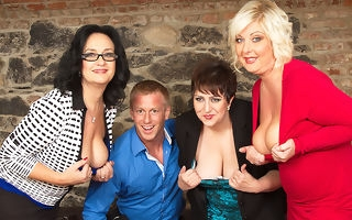 Three horny housewives garden plot a toyboy