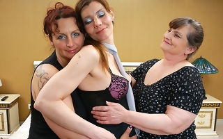 Several lesbian housewives move fro together with dirty