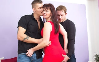 naughty housewife gender four guys onwards same time