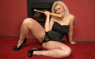 Unsatisfactory housewife gender her baseball bat
