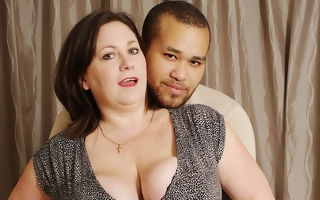 British bigtitted housewife sucking with the addition of having it away