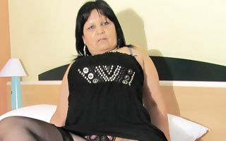 Big breasted mature Graciela gets herself down up