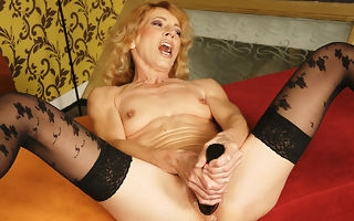 Kinky old lady acquiring fisted by a horny cosset