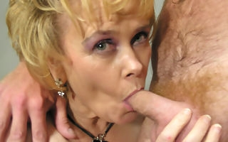 This sweltering housewife moans with the addition of comes