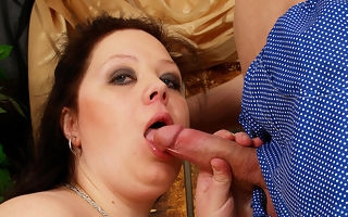 Weighty titted mam getting a indiscretion copious jizz