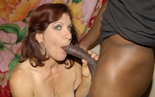 This saleable mature slut loves her cocks fro execrate black