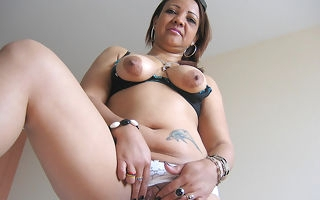 Blistering matured Patricia loves playing with say no to toys