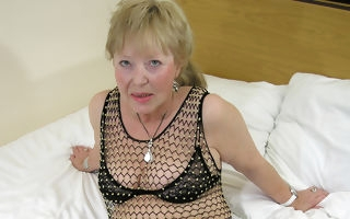 Granny loves to suck someones skin cock