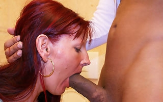 Bottomless gulf throat cock sucking on a public toilet