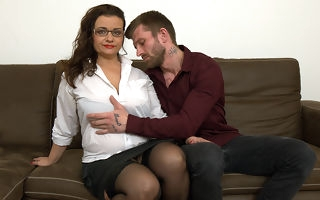 Curvy big breasted housewife gender and sucking cock