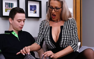 Horny German MILF teaching a bauble boy her dirty ways