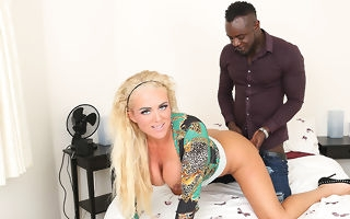 Kinky blonde Milf get fucked in dramatize expunge nuisance by her black boyfriend