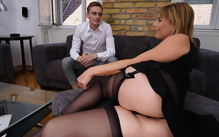 Magnificent Milf is fucked thither her pussy and ass by her young toyboy