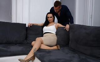 Horny Milf enjoys will not hear of toyboys big load of shit