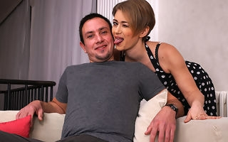 Naughty housewife effectuation with her huge younger lover