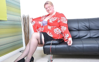 British mature BBW carryingon to herself