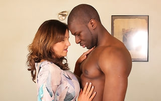 Hot British mom cheating on say no to costs with a strapping black guy
